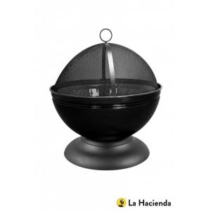 Vuurschaal met grill zwart