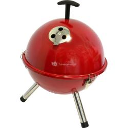 Tafelbarbecue rond rood