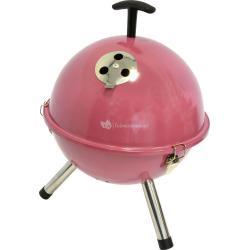 Tafelbarbecue rond roze