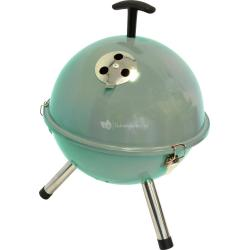 Tafelbarbecue rond turquoise