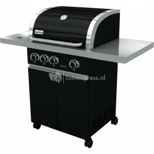 Prominent 3+ burner black cabinet